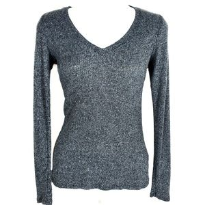 EXPRESS One Eleven | Ribbed V Neck Sweater Top XS